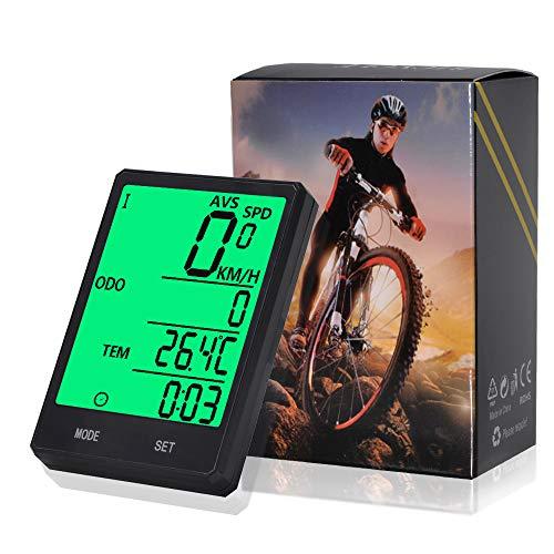 Pronghorn Wireless-Computer-Fahrrad, Fahrrad-Tachometer, Radfahren Kilometerzähler, Multifunktion mit extra großen LCD-Hintergrundbeleuchtung Display wasserdicht