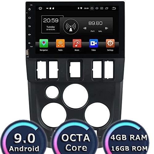 ROADYAKO Autoradio pour Renault Logan L90 2015 2016 2017 Android 8.0 Autoradio Stéréo avec GPS Navigation 3G Lien Miroir RDS FM AM Bluetooth AUX Multimédia Audio Vidéo