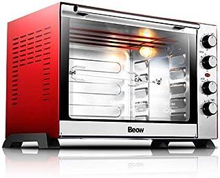 L.TSA Cocina 60L Horno eléctrico Control de Temperatura Arriba Abajo Tostadora de Pan Acero Inoxidable Horno mecánico Horno Máquina de tostar Pasteles