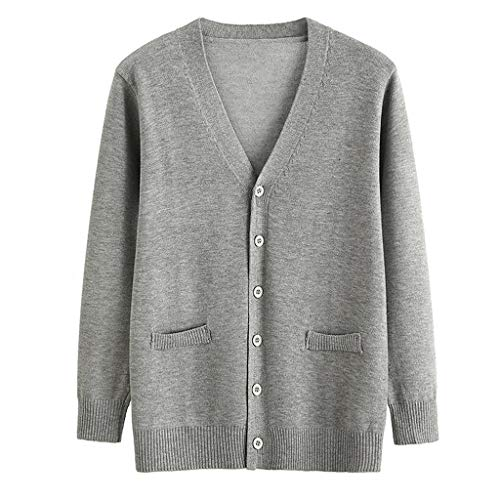 DQANIU Frauen Mantel, Plus Size Frauen geknöpfte Strickjacke Herbst/Winter Campus Style Top Langarm Bluse Lose Mantel Jacke