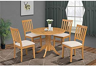 Burlington 5 Piece small kitchen table set-kitchen table and 4 dining chairs in Oak finish