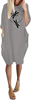 Women Autumn Winter Casual Mini Dress O-Neck Long Sleeve Long Sweatshirt Fashion Print Shirt Pluse Size Loose Top