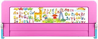 KISlink 180  70 9 inch  foldable baffle side rail anti-fall security fence large cot for children children children sturdy  pink