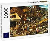 Lais Puzzle Pieter Bruegel el Viejo - Serie de Pinturas en Forma de Arco, Los Proverbios Holandeses 1000 Piezas
