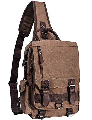 El-fmly Messenger Sling Bag Crossbody Shoulder Laptop Canvas Backpack for Men Boy School Outdoor Sport Small Bag