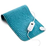 Homech Electric Heating Pads for Back Pain and Cramps Relief - Large [12'x24'] - Ultra-Soft Heat Pad with Moist & Dry Heat Therapy Options - Auto Shut Off - 6 Temperature-Hot Heated Pad