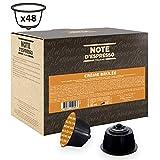 Note d'Espresso - Cápsulas de bebida de crème brûlée, Exclusivamente Compatibles con cafeteras de cápsulas Nescafé, Dolce Gusto, 48 unidades de 12g
