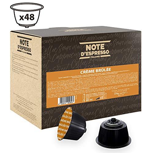 Note D'Espresso - Cápsulas de bebida de crème brûlée Exclusivamente Compatibles con cafeteras de cápsulas Nescafé* y Dolce Gusto* 12g (caja de 48 unidades)