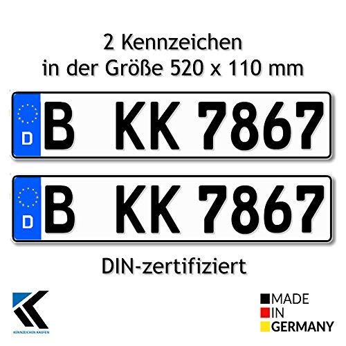 Antmas 2 Euro-Kennzeichen | Kfz Kennzeichen DIN-zertfiziert für Deutschland (520x110 mm) (2)