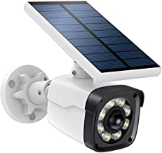 SDETER Solar Motion Sensor Lights Camera Outdoor, Dummy Fake Security CCTV Surveillance System, 800 Lumens 2-Mode Spotlight IP66 Waterproof Flood Light for Indoor Outdoor with Warning Sticker