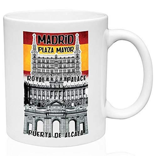 N\A Taza de café de cerámica de 11 oz de Madrid España