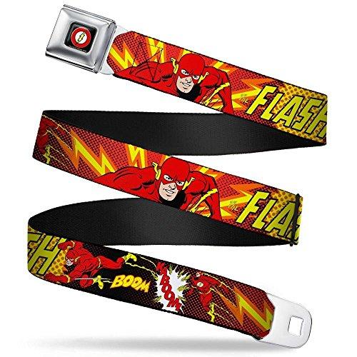 Velocidad de flash DC Comics Superhéroe Kaboom cinturón cinturón Producto oficial Producto nuevo. Color: Multicolor Material: unspecific