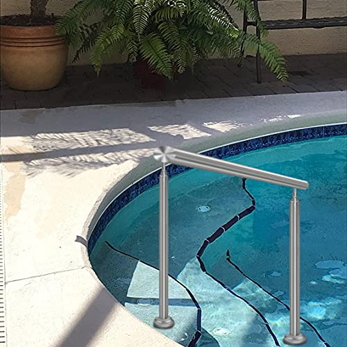 YUDE Swimming Pool Handrails, 304 Stainless Steel Swimming Pool Stair Railing, Easy to Install Handrails, with a Full Set of Accessories (34' High)