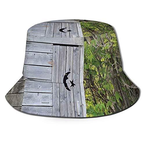 Summer Fisherman Sailor Fiddler Driver Hat,Vintage Farm Life Cottage Barn Shed in Forest Trees Leaves Picture