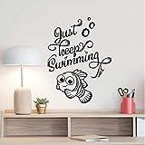 Nur weiter schwimmen Wandtattoo Findet Nemo Dory Kunst