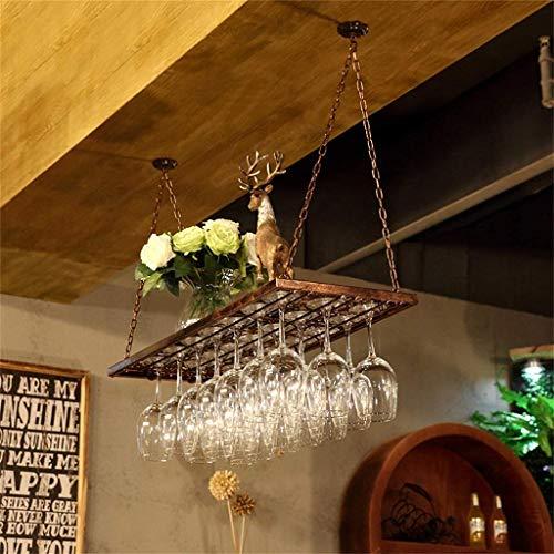 AERVEAL Estantes de Vino Soporte de Pared Soporte de Metal para Montaje en Techo Colgante para Botella de Vino Cadena en O Copas de Vino Organizador de Almacenamiento Estante de Almacenamiento de Com