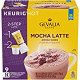 Gevalia Mocha Latte Espresso K-Cup Coffee Pods & Froth Packets (36 Pods And Froth Packets, 4 Packs Of 9), 9 Count (Pack of 4)
