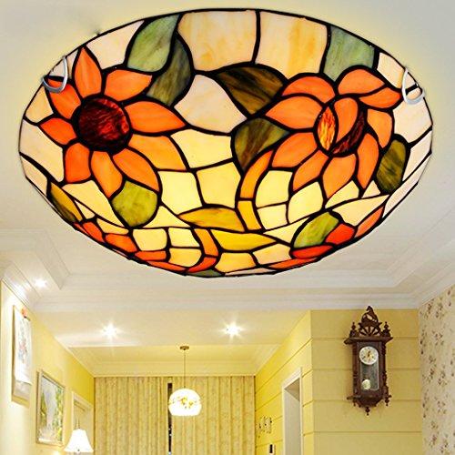 Excellente Flash Lampes Tiffany Chambre Plafonnier Tournesols Chaudes Continental Corridor Éclairage Balcon Lumières