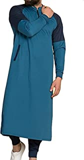 GaoYunQin Hommes Robes Musulmanes Manche Longue Chemises Thobe Abaya Islamique Vêtements Peignoir Ethnique Décontracté Rob...