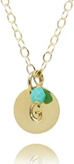 Best disc necklace with birthstone Reviews