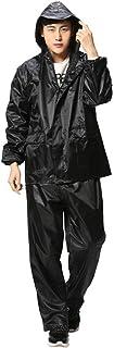 NEHARO Unisex Lluvia Capa de la Chaqueta Impermeable Transpirable + Pantalones con reflexivo Impermeable del Impermeable f...