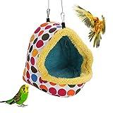 FOTABPYTI Hiver Chaud nid d'oiseau, Perroquet Hamster écureuil hérisson Hiver Suspendu Sac de Couchage nid de Coton(L)