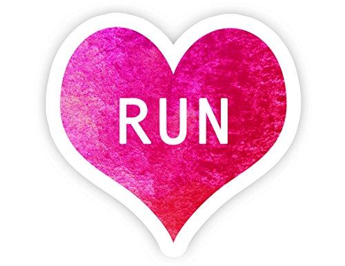 "I Love Running Heart Decal - 2.5"" Vinyl Decal - Laptop, MacBook, Tablet, Phone, Decor, Window Vinyl Decal Sticker"