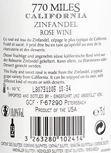 770 Miles Zinfandel Rosé Kalifornien Roséwein (6 x 0.75 l) - 4