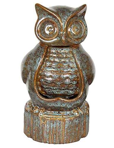 Beckett Corporation Ceramic Owl Fountain