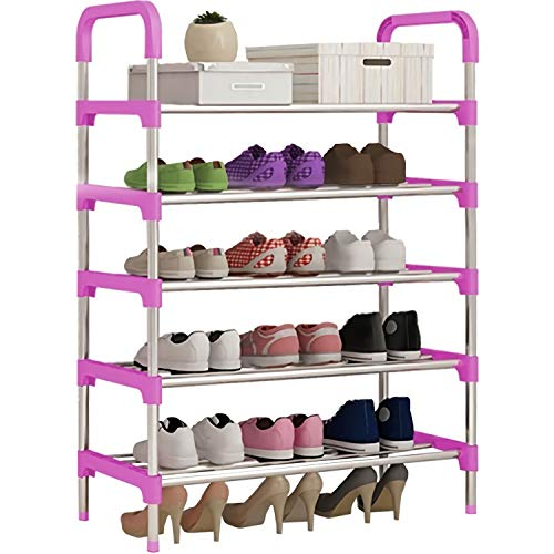 Just Home Rack & Pack Zapatera Practica 15 Pares Armable 5 Niveles Organizador
