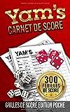 Yam's Carnet de scores: carnet de poche Yam de 300 Feuilles de Scores   Grille de score du Jeux De Société Yams   bloc de marque yahtzee   300 ... poche   Jeux de Dés Yams Carnet de Scoring .
