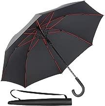 Newdora Stick Umbrella, Auto Open Windproof Umbrella with 51 Inch Large Canopy Waterproof and J Handle for Men Women