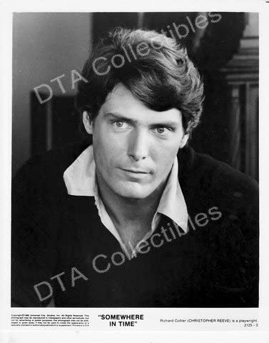 MOVIE Deluxe PHOTO: SOMEWHERE IN REEVE-BW TIME-1980-CHRISTOPHER 8x10 Los Angeles Mall S