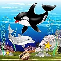 500ピース2頭のイルカ子供のためのジグソーパズルジグソーパズル大規模なパズルゲーム