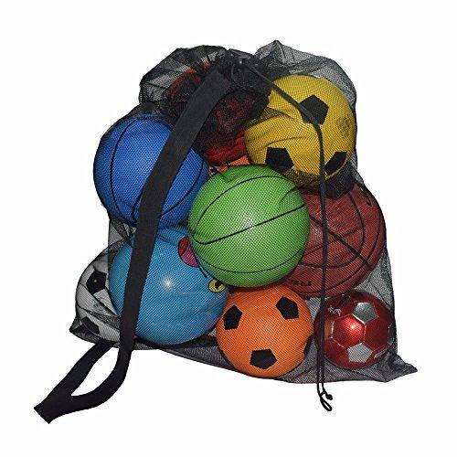 Eizur Sacca Porta Palloni Calcio Rugby Borsa a rete Volley palla Sack Sacca sportiva portapalloni con spallaccio
