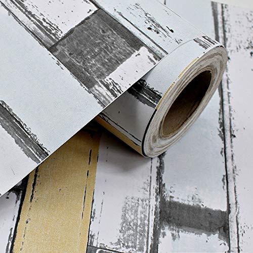 Keleily Selbstklebende Folie 60cm x 3m Klebefolie Möbel Vintage Klebstoff Wasserfest für Tischschränke Möbel Arbeitsplatte Küchenwand, Gelb - D