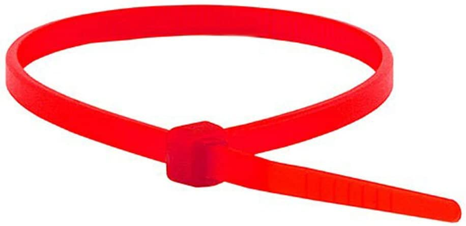 Monoprice Cable Tie 4 inch 18LBS, 100pcs/Pack - Red