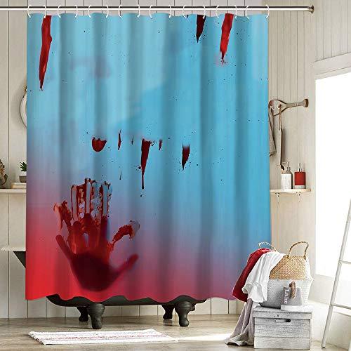 Cortina de ducha de baño Yummy forro impermeable para cortina de ducha anti cadáver clínica terror zombie Gore Halloween decoraciones Maaike Neuville infección 72 x 84 pulgadas