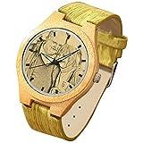 SOUFEEL Reloj Madera Personalizado Foto y Grabado Punteros Luminosos Cuarzo con...