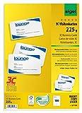 Sigel LP798 Biglietti da visita, 3C, con taglio netto tutt'intorno, bianco, 85x55 mm (A4), 225 g, 100 pz.=10 fg.
