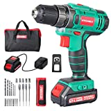 ገመድ አልባ ሽክርክሪፕት 12V ፣ HYCHIKA Cordless Drill 30N · m Max Torque በ 1500mAh ባትሪ ፣ 1H ፈጣን ቻርጅ ፣ የ 4PCS ጠፍጣፋ መስሪያ ፣ የ 6PCS Twist Drill ፣ 6PCS Screw Bit ፣ 5PCS Nut Driver, ተሸካሚ መያዣ