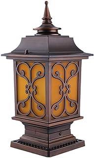 SEESEE.U European IP54 Outdoor Waterproof Column Lamp Creative Retro Square Aluminum Metal Courtyard Gate Pillar Post Ligh...