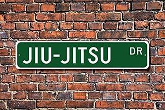 4 x 18 Jiu-Jitsu Sign Fhdang Decor Jiu-Jitsu Jiu-Jitsu Participant Jiu-Jitsu Gift Jiu-Jitsu Fan Japanese Martial Art,Custom Street Sign,Metal Sign