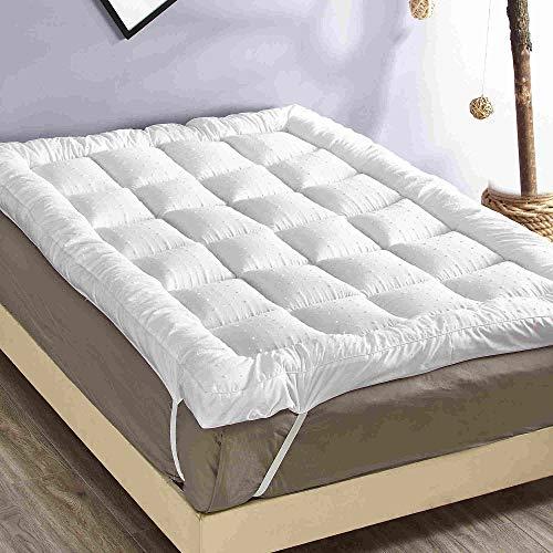 rejuvopedic New Double Bed Topper Microfibre Mattress Protector, Box Stitched & Elasticated Corner Straps
