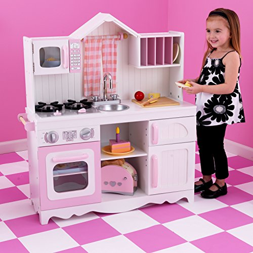 KidKraft 53222 Moderne Country Spielküche, Rosa und Weiß - 4