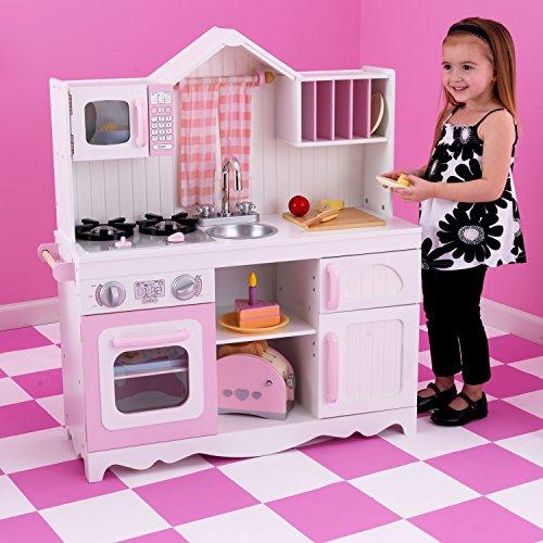 KidKraft 53222 Moderne Country Spielküche, Rosa und Weiß - 5