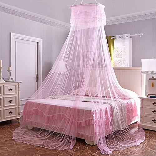 Heydayling Techo suspendido Mosquito NetHousehold Circulares Princesa de campaña (Verde) (Color : Light Pink)