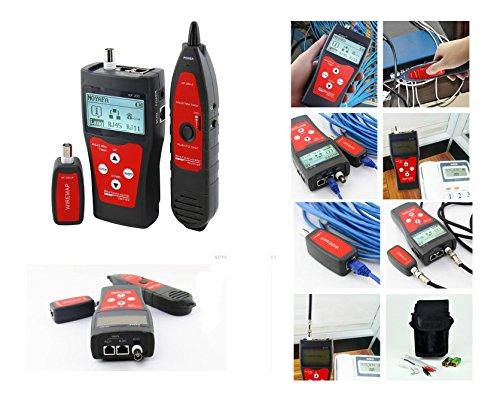 Kalea Informatique - Comprobador profesional para red RJ45 RJ11 USB BNC: prueba la longitud (RJ45 BNC) / Cartografía (RJ45 BNC) / Marcador (RJ45 RJ11 BNC USB) / con función antiniebla