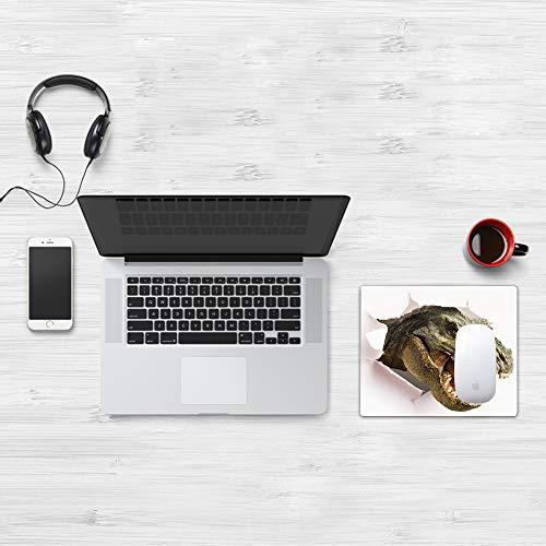 Comfortable Mouse Pad 32x25 cm,Dinosaurio, Dinosaurio peligroso rasga la imagen de la pared de papel Escena de desc,Base de Goma Antideslizante Wipe Washable para Gamers Ordenador, PC y Laptop32x25 cm