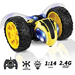 🚚BEST GIFT For KIDS: This Remote Controlled Car is with exlusive design. Bumble Lightning Bee with cool LED light will bring you a special driving experience.The best remote control car for boys ages 5 6 7 8 9 10 11 12 and up 🚑360 degree spins & flip...